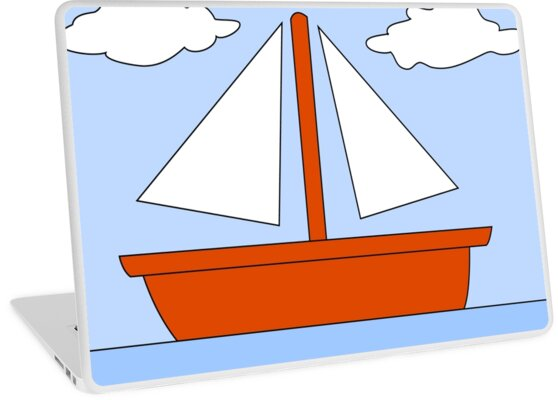 Imagen De Un Barco En Caricatura El Barco Azul Fondos De Pantalla