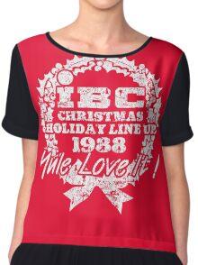 IBC Christmas Line Up- RED Chiffon Top