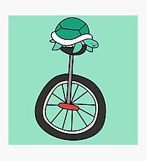 Unicycle Turtle Photographic Print