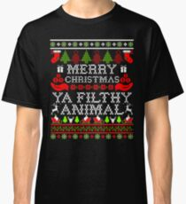Christmas T-shirt - Merry Christmas Ya Filthy Animal Classic T-Shirt