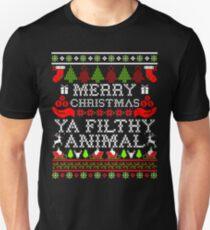 Christmas T-shirt - Merry Christmas Ya Filthy Animal Unisex T-Shirt