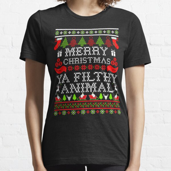 Christmas T-shirt - Merry Christmas Ya Filthy Animal Essential T-Shirt