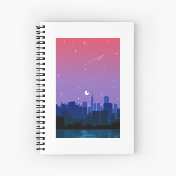 Bisexual Pride Cityscape Spiral Notebook