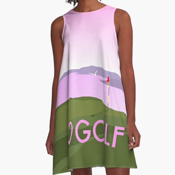 I love heart golf PINK A-Line Dress