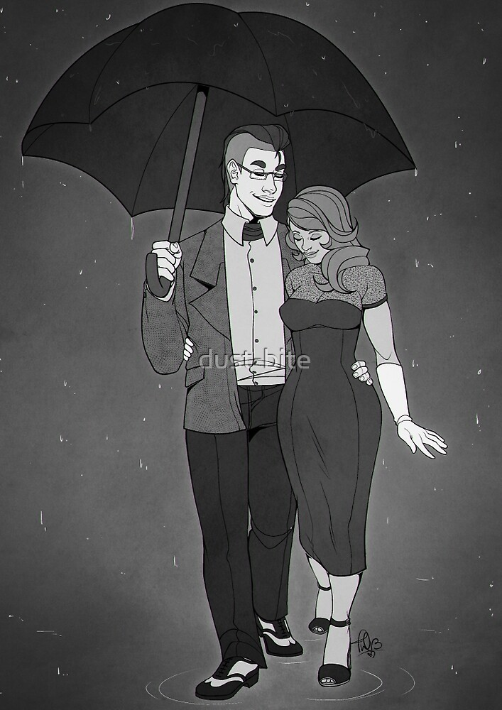 In the Rain by dust-bite