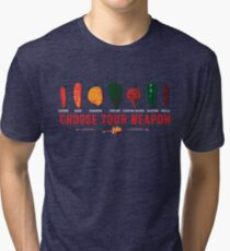 Choose Your Weapon Hot Peppers  Tri-blend T-Shirt
