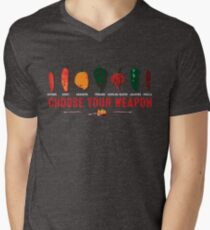 Choose Your Weapon Hot Peppers  Men's V-Neck T-Shirt