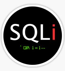SQL Injection Sticker