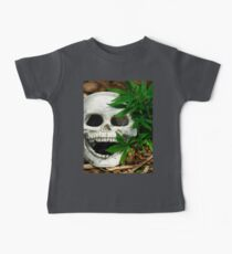 Happy Marijuana Skull  Baby Tee