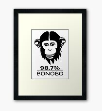 Bonobo 98.7% Evolution Shirt Framed Print