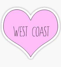 west coast sticker best coast california Sticker