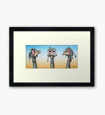 The Rainbow Tribe Framed Print