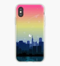 Pansexual Pride Cityscape iPhone Case