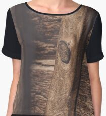 Worn-out Wooden Planks Women's Chiffon Top