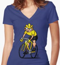 Cyclist - Cycling Women's Fitted V-Neck T-Shirt