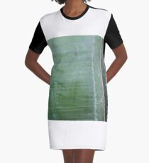 green lines Graphic T-Shirt Dress