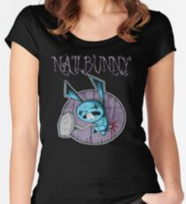 johnny the homicidal maniac nail bunny jthm Women's Fitted Scoop T-Shirt