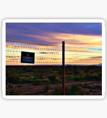 West Texas Desert Sunset Sticker