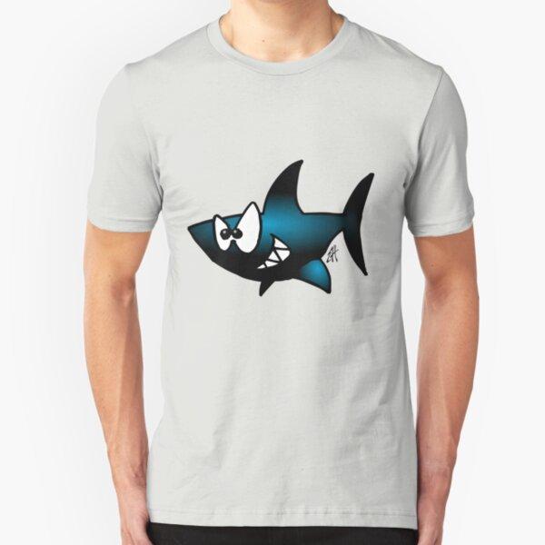 Lächelnder Haifisch Slim Fit T-Shirt