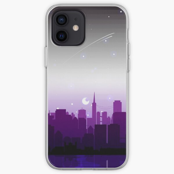 Asexual Pride Cityscape iPhone Soft Case