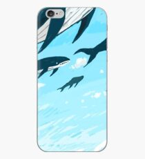 Whales in the sky iPhone Case