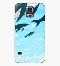 Whales in the sky Case/Skin for Samsung Galaxy