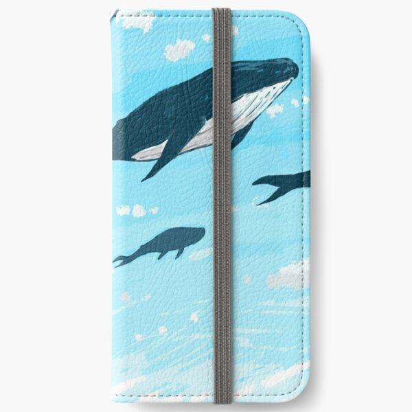 Whales in the sky iPhone Wallet
