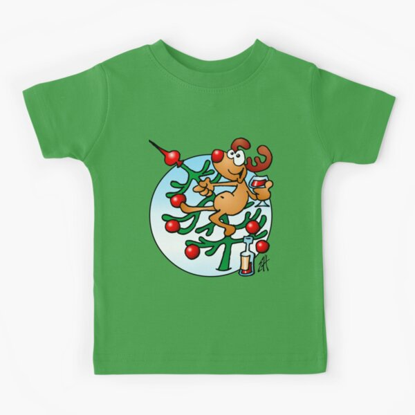 Cute Red Nosed Renne Rudolph Noël Noël Adulte T Shirt