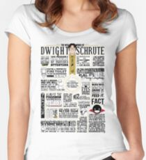 The Wise Words of Dwight Schrute (Light Tee) Women's Fitted Scoop T-Shirt