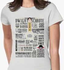 The Wise Words of Dwight Schrute (Light Tee) Women's Fitted T-Shirt