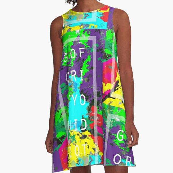 """""""GOFORITYOUIDIOT"""" A-Line Dress"""