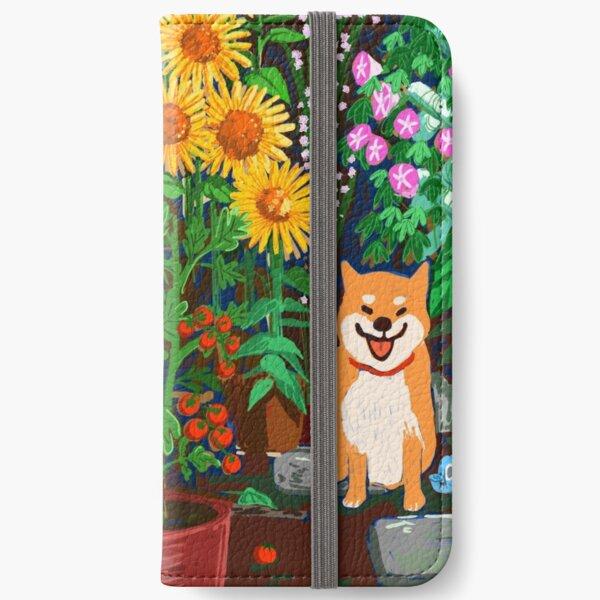 Shiba in a Garden iPhone Wallet