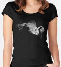 CREEPY FISH - Art By Kev G Women's Fitted Scoop T-Shirt