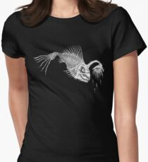 CREEPY FISH - Art By Kev G Women's Fitted T-Shirt