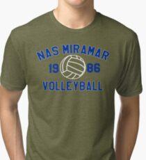 Top Gun - Nas Miramar Volleyball 1986 Tri-blend T-Shirt