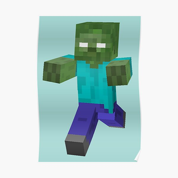 Minecraft Zombie Herobrine | Cool Minecraft Gaming Art Poster