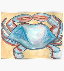 Blue Crab Starts with B Poster
