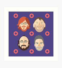 Phish with Fishman Donuts  Art Print