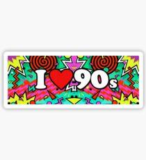 I Love The 90's Vintage Retro Music T-Shirt Sticker
