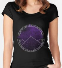 Look At The Stars And Wish | Night Court Women's Fitted Scoop T-Shirt