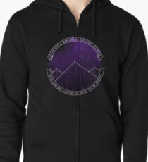 Look At The Stars And Wish | Night Court Zipped Hoodie
