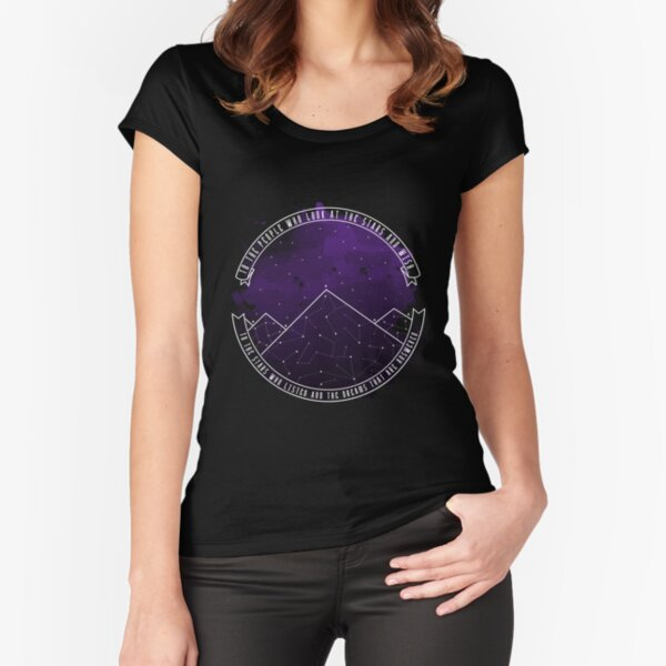Look At The Stars And Wish | Night Court Fitted Scoop T-Shirt