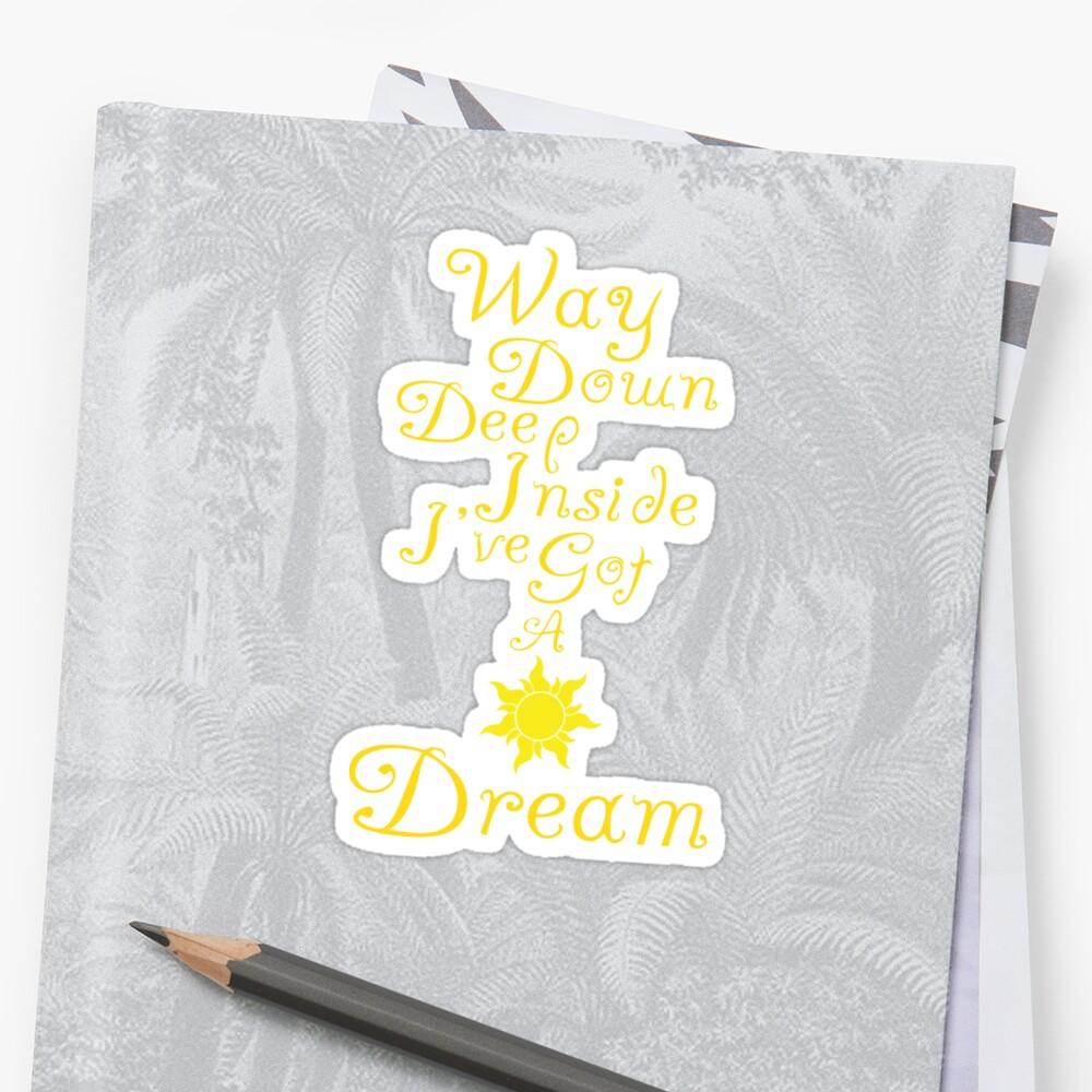 Way Down Deep Inside I've Got A Dream by Abi Pepper