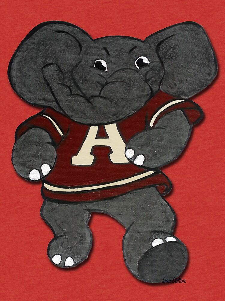 Alabama Roll Flut Elefant Maskottchen von TamiDalton