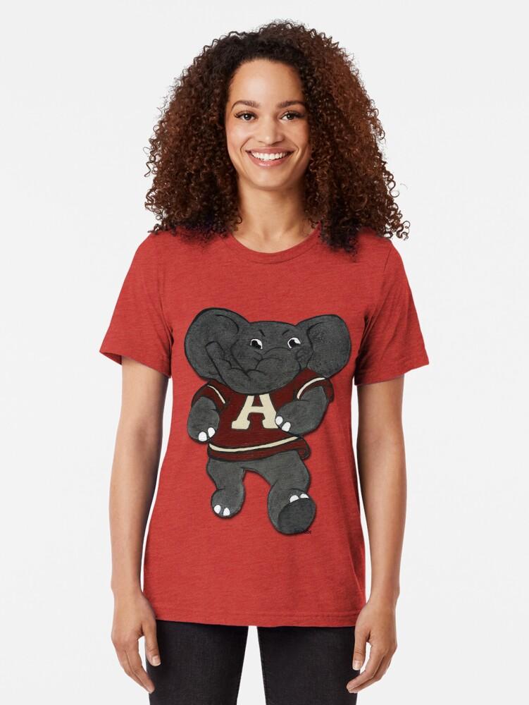 Alternative Ansicht von Alabama Roll Flut Elefant Maskottchen Vintage T-Shirt