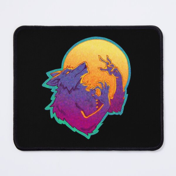 Halloween Howling Werewolf Mouse Pad