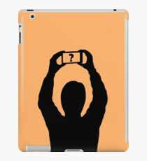 Man with mobile phone iPad Case/Skin