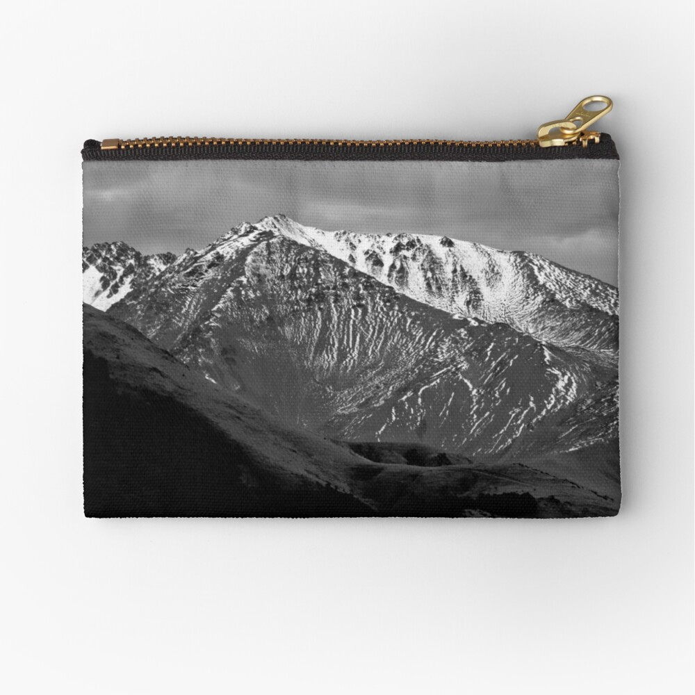 Mountains over Windwhistle, New Zealand Zipper Pouch