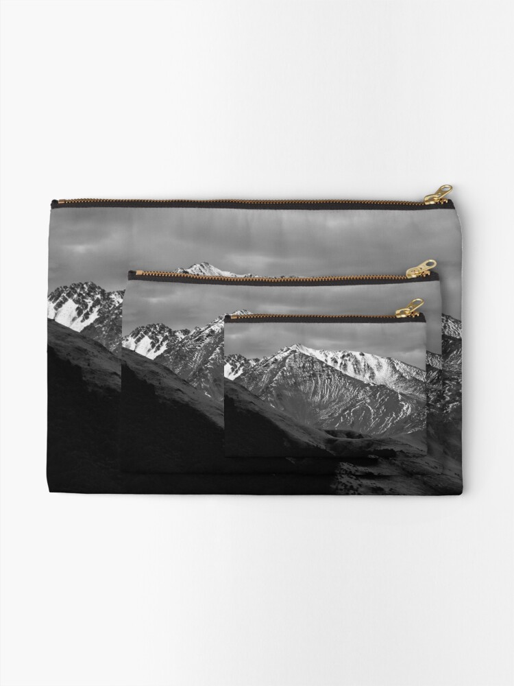 Alternate view of Mountains over Windwhistle, New Zealand Zipper Pouch