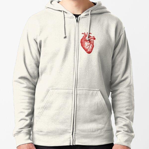 Vintage Heart Anatomy Zipped Hoodie